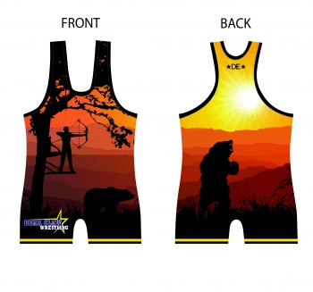 Bear Claw Red Singlet
