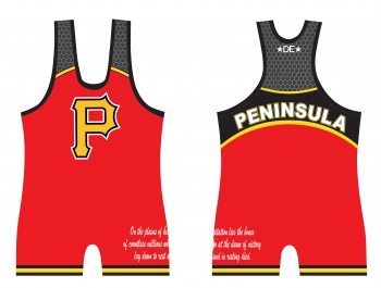 Peninsula Mens High Cut Red Singlet