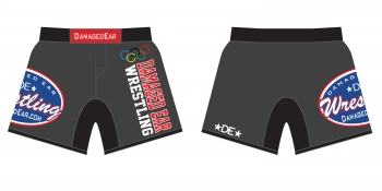 Ladies Damaged Ear Charcoal Fight Shorts