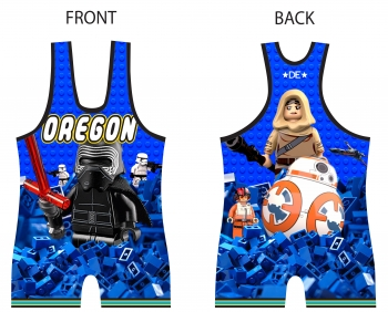 High Cut DE Blue Brick Wars Singlet