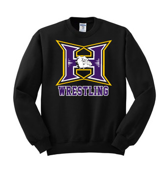 Hermiston Wrestling Black Crew Neck Sweatshirt