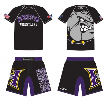 Hermiston Wrestling Rashguard and Fight Shorts Package