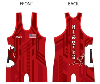 Outlaw Mat Club Red Singlet