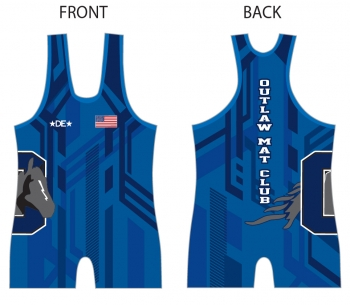Outlaw Mat Club Blue Singlet