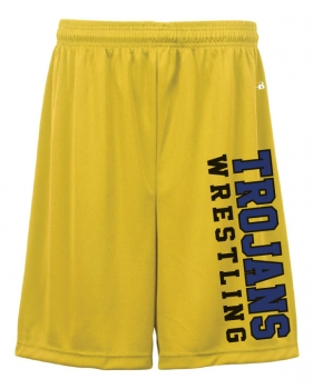 Trojans Wrestling Sublimated Shorts - Badger Gold