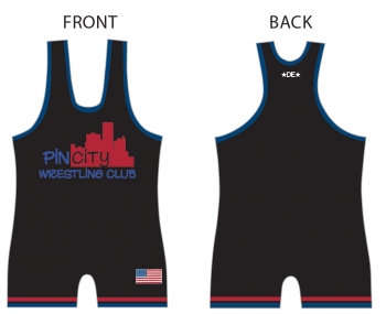 Pin City Black Singlet