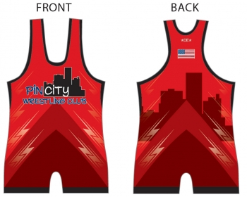 Pin City Red Singlet
