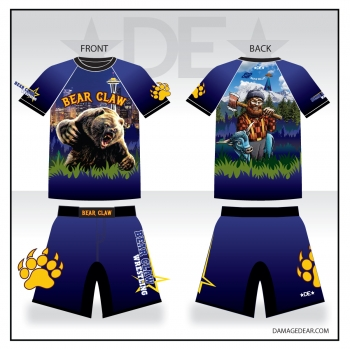 Bear Claw Grizzly Sub Shirt and Fight Shorts Pack