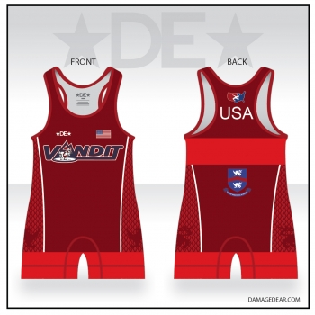 Vandit Red High Cut Singlet