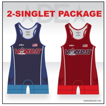 Vandit Womens Cut Singlet with Name Pack