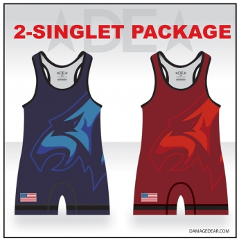 Chiawana Red and Blue Singlet Pack