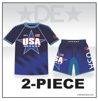 2018 Oregon Regionals Rash Guard and Fight Shorts Package