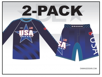 2018 Oregon Regionals LS Sub Shirt and Fight Shorts Pack
