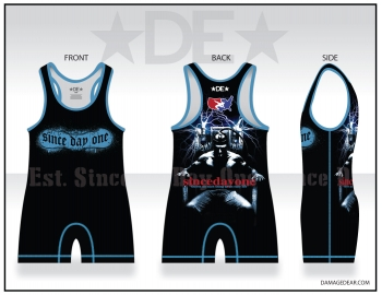 Est. Since Day One Mens Black and Blue Singlet