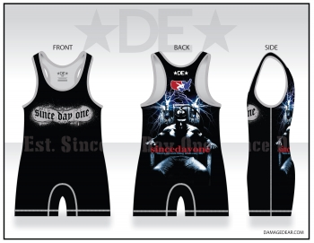 Est. Since Day One Mens Black and Gray Singlet