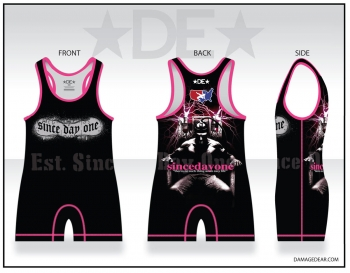 Est. Since Day One Mens Black and Pink Singlet