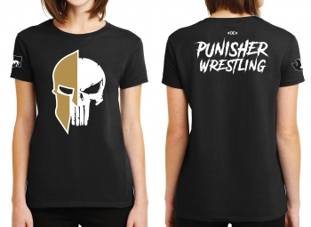 Punisher Wrestling Skull Logo Ladies T-shirt