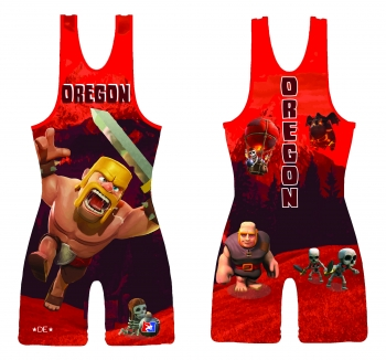 Red 2015 Team Oregon High Cut Singlet