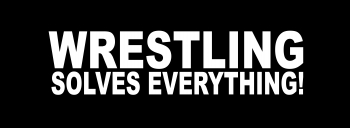 "16"" Wrestling Solves Everything Decal"