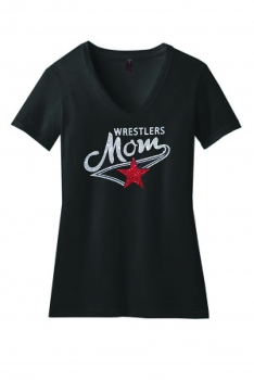Wrestler's Mom Black V-Neck