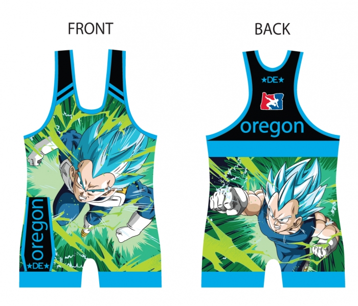 1588db9b63a44 Dragon Ball Z Vegeta Singlet - Blue