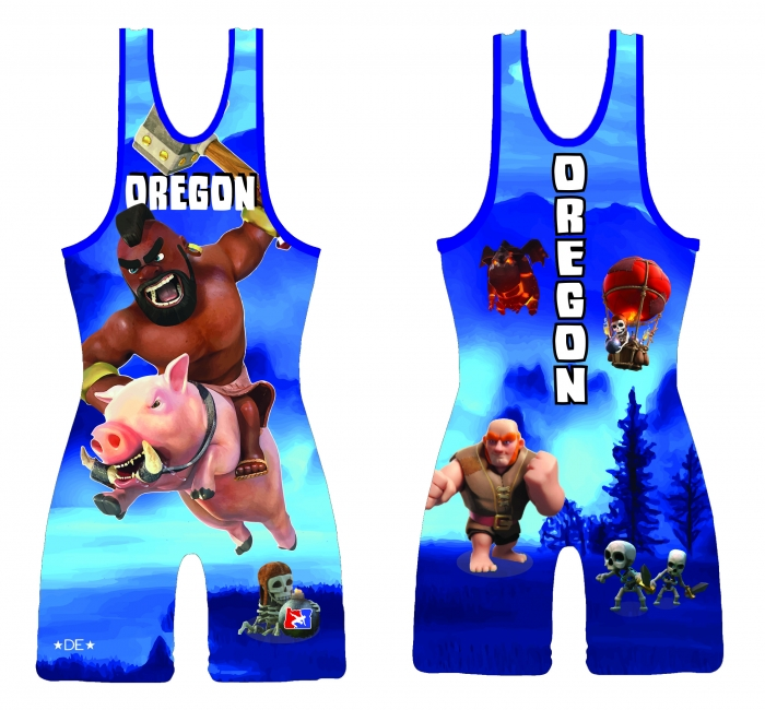395c6d0745a76 Blue 2015 Team Oregon High Cut Singlet