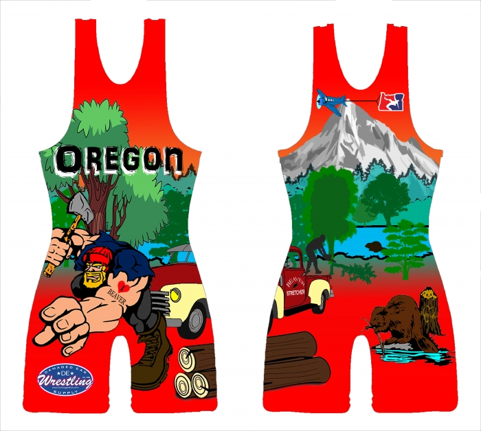 f75f0095f6b54 Red Original Logger 2014 National Team Singlet