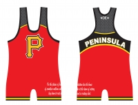 Peninsula Womens Cut Red Singlet
