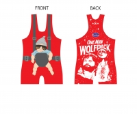 High Cut Baby Red Singlet