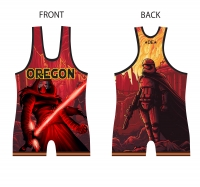 High Cut DE Red Saber Singlet