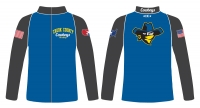 Crook County Wrestling Full Zip Warmup Jacket - Blue/Charcoal