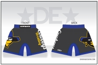 Crook County Fight Shorts - Charcoal