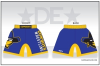 Crook County Wrestling Fight Shorts - Blue