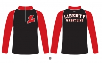 Liberty Lions 1/4 Zip Jacket - Black/Red