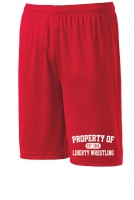 Liberty Lions Red Performance Shorts