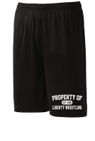 Liberty Lions Black Performance Shorts