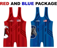 Outlaw Mat Club Red and Blue Singlet Package