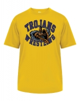 Trojans Wrestling Sublimated T-Shirt - Badger Gold