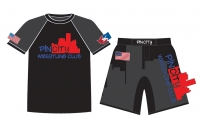 Pin City Rash Guard and Fight Shorts Package