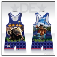 Bear Claw Grizzly Blue Singlet