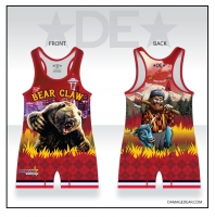 Bear Claw Grizzly Red Singlet