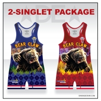 Bear Claw Red and Blue Grizzly Singlet Pack