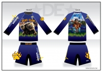 Bear Claw Grizzly LS Sub Shirt and Fight Shorts Pack