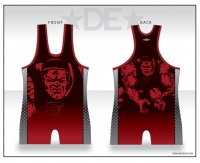 Grapplers Red and Black Singlet