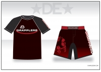 Grapplers Black Sub Shirt and Fight Shorts Pack