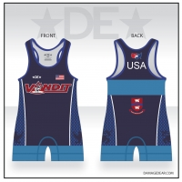 Vandit Blue High Cut Singlet