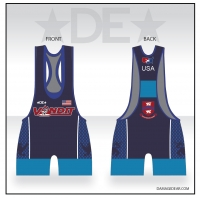 Vandit Blue Low Cut Singlet