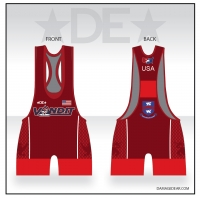 Vandit Red Low Cut Singlet