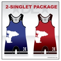 Benton City Red and Blue Singlet Pack