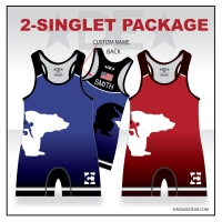 Benton City Red and Blue Singlet Pack with Name